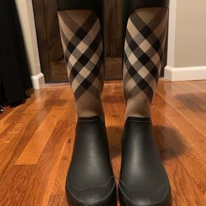 Burberry Clemence Rain Boots Size 7
